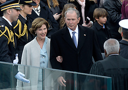 Former President George W. Bush anf First Lady Laura Bush attend the 58th Presidential Inauguration on January 20, 2017 in Washington, DC..Photo by Olivier Douliery/Abaca