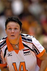 19-06-2000 JAP: OKT Volleybal 2000, Tokyo<br /> Nederland - Japan 1-3 / Riette Fledderus