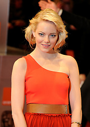 ©London News Pictures. 13/02/2011. Emma Stone Arriving at BAFTA Awards Ceremony Royal Opera House Covent Garden London on 13/02/2011. Photo credit should read: Peter Webb/London News Pictures