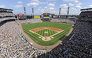 CHICAGO - JUNE 25:  A general view of U.S. Cellular Field as 39,364 fans watch the game between the Chicago White Sox and Chicago Cubs on June 25, 2010 at U.S. Cellular Field in Chicago, Illinois.  The White Sox defeated the Cubs 6-0.  (Photo by Ron Vesely)