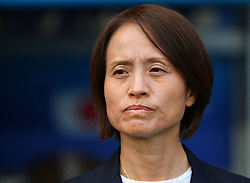 Coach AsakoTakarura during the FIFA Women's World Cup group D first round soccer match between Argentina and Japan at Parc des Princes Stadium in Paris, France on June 10, 2019. The FIFA Women's World Cup France 2019 will take place in France from 7 June until 7 July 2019. Photo by Christian Liewig/ABACAPRESS.COM