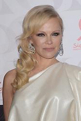Pamela Anderson attends the 17th 'Diner De La Mode' as part of Paris Fashion Week on January 22, 2019 in Paris, France.