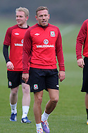 Craig Bellamy of Wales in action.Wales football team training and player media session in Cardiff on Tuesday 19th March 2013.  The team are together ahead of their next two World cup qualifying matches against Scotland and Croatia. pic by Andrew Orchard, Andrew Orchard sports photography,