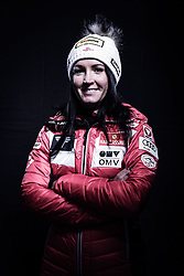 12.10.2019, Olympiahalle, Innsbruck, AUT, FIS Weltcup Ski Alpin, im Bild Jacqueline Seifriedsberger // during Outfitting of the Ski Austria Winter Collection and the official Austrian Ski Federation 2019/ 2020 Portrait Session at the Olympiahalle in Innsbruck, Austria on 2019/10/12. EXPA Pictures © 2020, PhotoCredit: EXPA/ JFK