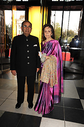 MR & MRS G P HINDUJA at the opening of the Victoria & Albert Museum's latest exhibition 'Grace Kelly: Style Icon' opened by His Serene Highness Prince Albert of Monaco at the V&A on 15th April 2010.