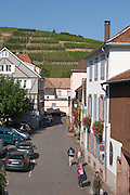 the village and vineyards ribeauville alsace france