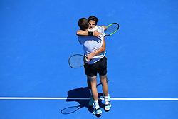 January 23, 2019 - Melbourne, AUSTRALIA - Pierre Hugues Herbert and Nicolas Mahut (Credit Image: © Panoramic via ZUMA Press)