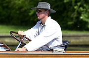 Henley on Thames, Women's Henley Regatta<br /> <br /> Photo Peter Spurrier<br /> <br /> <br /> Matt Pinsent Sydney Gold medallist, tries another craft to travel the rowing course, driving a launch at Women's Henley regatta.<br /> <br /> [Mandatory Credit: Peter Spurrier / Intersport Images] 20010623 Women's Henley Regatta.