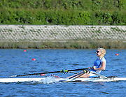 Reading. United Kingdom. GBR W1X, Jessica LEYDEN. Morning time Trial, 2014 Senior GB Rowing Trails, Redgrave and Pinsent Rowing Lake. Caversham.<br /> <br /> 09:05:09  Saturday  19/04/2014<br /> <br />  [Mandatory Credit: Peter Spurrier/Intersport<br /> Images]