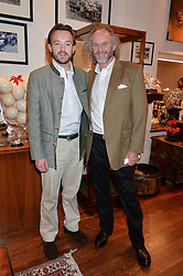 Left to right, ALEXANDRA MAVROS and his father PATRICK MAVROS at a pre christmas party & shopping evening at Patrick Mavros, 104-106 Fulham Road, London on 26th November 2014.