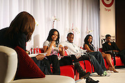 l to r: Lauren London, Anthony Mackie, Tantayana Ali, and Nate Parker at ' The Young Hollywood ' panel at The 2008 American Black Film Festival  held at The Writers Guild of America on August 9, 2008...The Festival film slate is primarily composed of world premieres (shorts, narrative features and documentaries), positioning it as the leading film festival in the world for African American and urban content. Since its inception ABFF, has screened over 450 films and has rewarded and redefined artistic excellence in independent filmmaking.