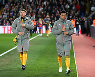 Arsenal's Francis Coquelin looks on as a substitute during the Premier League match at Selhurst Park Stadium, London. Picture date: April 10th, 2017. Pic credit should read: David Klein/Sportimage
