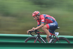 September 15, 2017 - Chenghu City, United States - Roman Ramanau from Minsk Cycling Club team during the fourth stage of the 2017 Tour of China 1, the 3.3 km Chenghu Jintang individual time trial. .On Friday, 15 September 2017, in Jintang County, Chenghu City,  Sichuan Province, China. (Credit Image: © Artur Widak/NurPhoto via ZUMA Press)