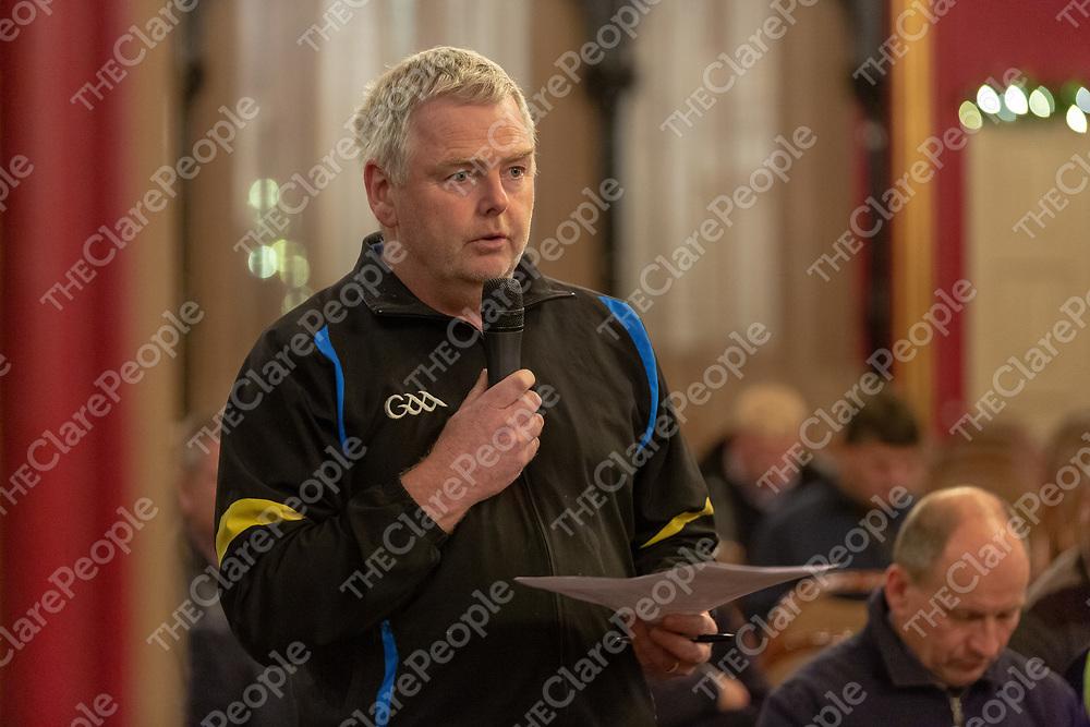 John Brew speaking at the meeting