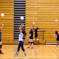 081213       Brian Leddy<br /> Gallup High School volleyball players practice at the school Monday.