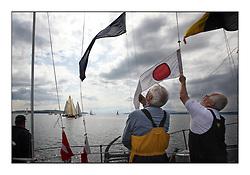 Largs Regatta Week - August 2012..Committee Vessel,  Race Management