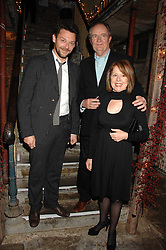 Left to right, actor RICHARD COYLE, actor JIM BROADBENT and his wife ANASTASIA at a reception to Discover Wilton's Music Hall held at the hall in Graces Alley, London E1 on 5th December 2007.<br /><br />NON EXCLUSIVE - WORLD RIGHTS