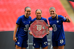 Chelsea Women lift the FA Women's Community Shield after beating Manchester City Women 0-2 - Mandatory by-line: Nizaam Jones/JMP - 29/08/2020 - FOOTBALL - Wembley Stadium - London, England - Chelsea v Manchester City - FA Women's Community Shield