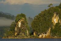 Limestone islets within Mayalibit Bay, Waigeo Island.