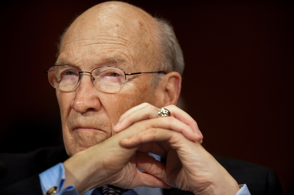 """Former Senator ALAN SIMPSON, (R-WY) testifies before a Senate Judiciary Subcommittee hearing on Campaign Finance Reform and """"The Fair Elections Now Act: A Comprehensive Response to Citizens United."""""""