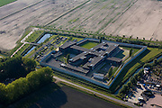 Nederland, Flevoland, Lelystad, 08-09-2009. hightech gevangenis (onderdeel Penitentiaire Inrichting (PI) Flevoland).toeslag); aerial photo (additional fee required); .foto Siebe Swart / photo Siebe Swart