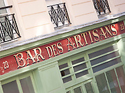 Bar des Artisans at the Canal Saint Martin, Paris, France