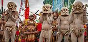 Mudmen, Goroka festival, 140 ethnic tribes come together for three day Sing sing, Goroka, Eastern Highlands, Papua New Guinea