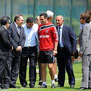 Besiktas's Coach Tayfur HAVUTCU (C) during their new season training at BJK Nevzat Demir training center in Istanbul, Turkey, 30 June 2011. Photo by TURKPIX