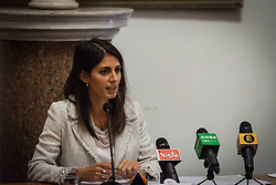 September 22, 2017 - Rome, Italy, Italy - Virginia Raggi, Mayor of Rome present the project for the requalification of the former General Markets on September 22, 2017 in Rome, Italy. The project includes a public gallery, a new municipal library, a main course, three squares, an elderly centre, a conference room, a cinema, a sports area, a shopping area and an accommodation area with student buildings. (Credit Image: © Andrea Ronchini/NurPhoto via ZUMA Press)