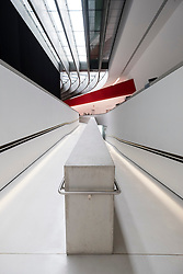 Interior of MAXXI National Centre of Contemporary Arts designed by Zaha Hadid in Rome, Italy