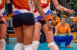 10-08-2016 BRA: Olympic Games day 5, Rio de Janeiro<br /> Na de 3-0 overwinning op Italië zit Nederland keurig op koers (25-21, 25-20, 25-20) / Coach Giovanni Guidetti
