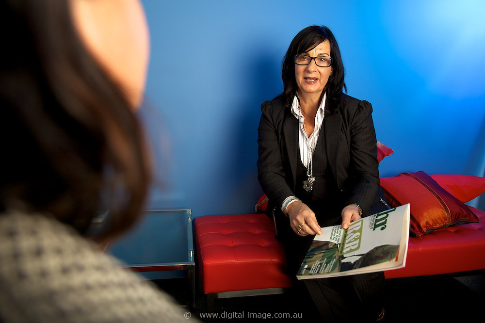 Ms Anne Ridgway, Head of Human Resources, Australian Synchrotron, in her office.