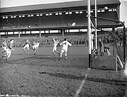 Combined Universities and The Rest v Ireland at Croke Park..06.03.1955
