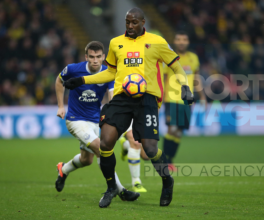 Watford's Stefano Okaka in action during the Premier League match at Vicarage Road Stadium, London. Picture date December 10th, 2016 Pic David Klein/Sportimage