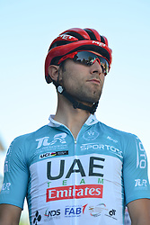 October 14, 2017 - Izmir, Turkey - Diego Ulissi from UAE Team Emirates ahead of the start to the fifth stage - the 166 km Vestel Selcuk to Izmir, the second last stage of the 53rd Presidential Cycling Tour of Turkey 2017..On Saturday, 14 October 2017, in Izmir, Turkey. (Credit Image: © Artur Widak/NurPhoto via ZUMA Press)