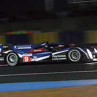 #9 Peugeot 908, Team Peugeot Total, Drivers: Bourdais, Pagenaud, Lamy, P1, Wednesday night qualifying, Le Mans 24H 2011
