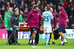 31 December 2017 -  Premier League - Crystal Palace v Manchester City - Kevin De Bruyne of Manchester City reacts as he is carried off on a stretcher - Photo: Marc Atkins/Offside