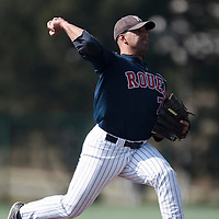 11 April 2010:  Keino Perez of Rouen pitches during game  1/week 1 of the French Elite season won 5-1 by Rouen over Montigny, at the Cougars Stadium in Montigny le Bretonneux, France.