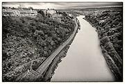 View of River Avon from Clifton Suspension Bridge, Bristol.