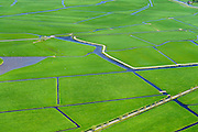 Nederland, Zuid-Holland, Leiden, 09-04-2014; Polder Boterhuis.<br /> Polder near Leyden, west Holland.<br /> luchtfoto (toeslag op standard tarieven);<br /> aerial photo (additional fee required);<br /> copyright foto/photo Siebe Swart