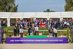 Individual podium, Wilson Nicola, March Piggy, Bullimore Sarah, GBR<br /> FEI EventingEuropean Championship <br /> Avenches 2021<br /> © Hippo Foto - Dirk Caremans<br />  26/09/2021