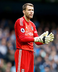 Fulham goalkeeper Marcus Bettinelli during the Premier League match at the Etihad Stadium, Manchester.