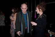 KARA TOINTON; ALAN AYCKBOURN; KATHERINE PARKINSON, Absent Friends - press night  afterparty. Mint Leaf. Haymarket. London. Thursday 9 February 2012