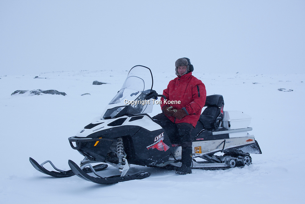 snowmobile in Northern Finland