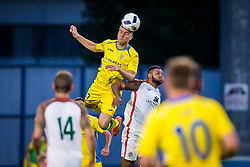 Gaber Dobrovoljc of NK Domzale during football match between NK Domzale and FC Lusitanos Andorra in first match of UEFA Europa League Qualifications, on June 30, 2016 in Sports park Domzale, Domzale, Slovenia. Photo by Ziga Zupan / Sportida