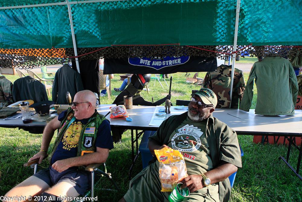 vietnam helicopter crew member veterans of 129th AHC Kokomo Indiana Vietnam Veterans Reunion 2012