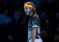 Tennis - 2019 Nitto ATP Finals at The O2 - Day Eight<br /> <br /> Singles Final : Stefanos Tsitsipas (Greece) Vs. Dominic Thiem (Austria)<br /> <br /> Stefanos Tsitsipas (Greece) screams <br /> <br /> COLORSPORT/DANIEL BEARHAM