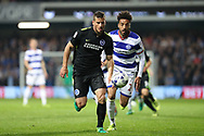 Brighton & Hove Albion centre forward Tomer Hemed (10) during the EFL Sky Bet Championship match between Queens Park Rangers and Brighton and Hove Albion at the Loftus Road Stadium, London, England on 7 April 2017.