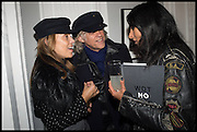 JEANNE MARINE; SIR BOB GELDOF; SERENA REES, Private view, Paul Simonon- Wot no Bike, ICA Nash and Brandon Rooms, London. 20 January 2015