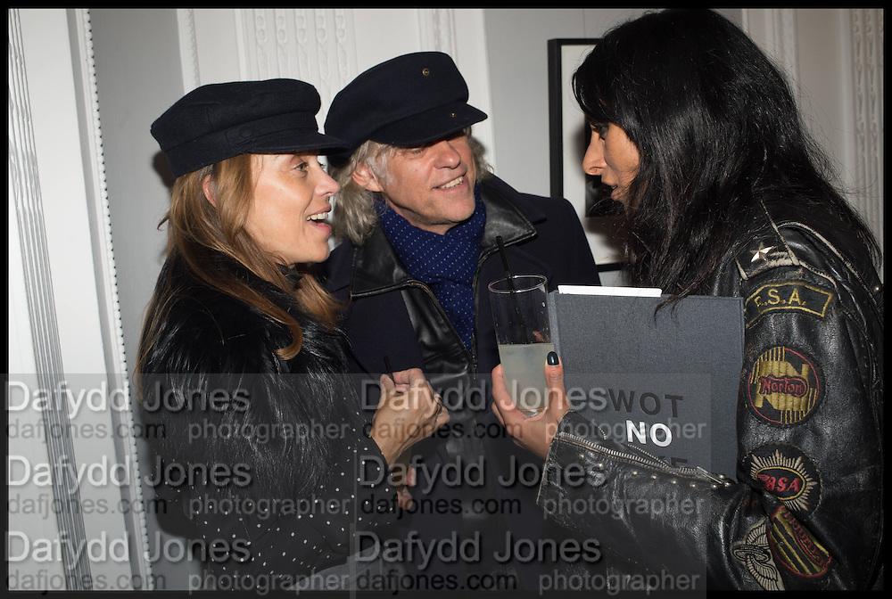 JEANNE MARINE; SIR BOB GELDOF; SERENA REES, Private view, Paul Simonon- Wot no Bike, ICA Nash and Brandon Rooms, London. 20 January 2015